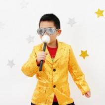 반짝이의상 아동용 - 골드 (7세~9세)