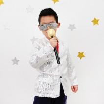 반짝이의상 아동용 - 실버 (7~9세)